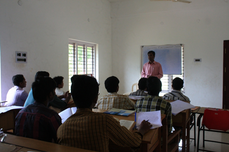 Teacher and Students in Leadership Training Classroom